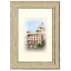 Bilderrahmen Holz-Bilderrahmen Capital Bern mit Passepartout Gold