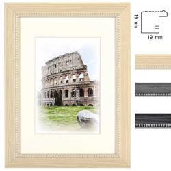 Bilderrahmen Holz-Bilderrahmen Capital Roma mit Passepartout