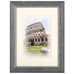 Bilderrahmen Holz-Bilderrahmen Capital Roma mit Passepartout Taupe