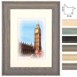 Holz-Bilderrahmen Capital London mit Passepartout