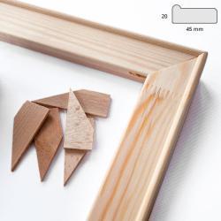 Bilderrahmen Keilrahmenleisten 4,5x1,9 cm