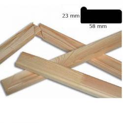 Bilderrahmen Keilrahmenleisten 5,8x2,3 cm Sonderzuschnitt