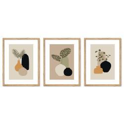 Bilderrahmen Galerie inkl. Poster Vase