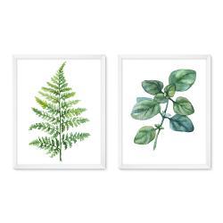 Bilderrahmen Bilderrahmen Galerie inkl. Poster Leaves