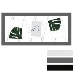 Bilderrahmen Fotogalerie mit Leine für 3 Bilder