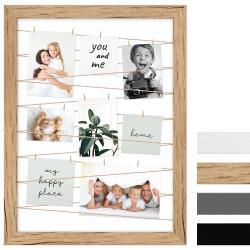 Bilderrahmen Fotogalerie mit Leine für 20 Bilder