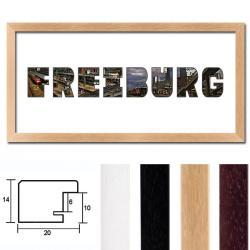 """Bilderrahmen Regiorahmen """"Freiburg"""" mit Passepartout"""