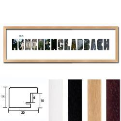 """Regiorahmen """"Mönchengladbach"""" mit Passepartout"""