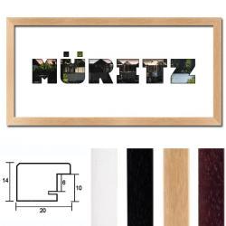 "Regiorahmen ""Müritz"" mit Passepartout"