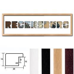 """Regiorahmen """"Regensburg"""" mit Passepartout"""