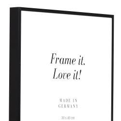 Bilderrahmen Alurahmen Quadro XL Maßanfertigung schwarz matt