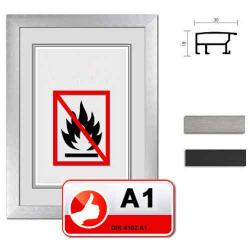 Bilderrahmen Klassifizierter Standard A1 Brandschutzrahmen Econ breit