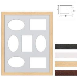 Bilderrahmen 7er Galerierahmen aus Holz in 40x50 cm