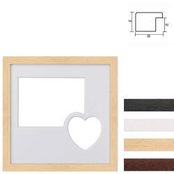 Bilderrahmen 2er Galerierahmen aus Holz in 30x30 cm mit Herz