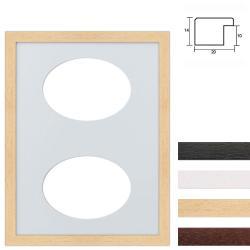 Bilderrahmen 2er Galerierahmen aus Holz in 30x40 cm Ovalausschnitt
