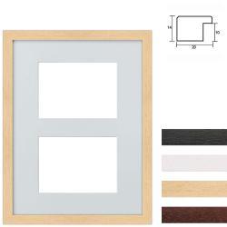 Bilderrahmen 2er Galerierahmen aus Holz in 30x40 cm