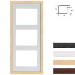 3er Galerierahmen aus Holz in 25x60 cm