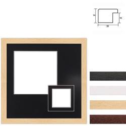 Bilderrahmen 2er Galerierahmen aus Holz in 30x30 cm