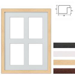 Bilderrahmen 4er Galerierahmen aus Holz in 30x40 cm