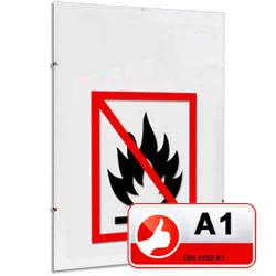 Bilderrahmen Klassifizierter Standard A1 Brandschutz Cliprahmen