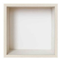 Bilderrahmen Spardosenrahmen Weiß mit weißer Box