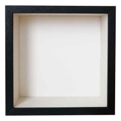 Bilderrahmen Spardosenrahmen mit Druck selber gestalten Schwarz mit weißer Box