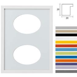 Bilderrahmen 2er Galerierahmen Top Cube in 30x40 cm Ovalausschnitt