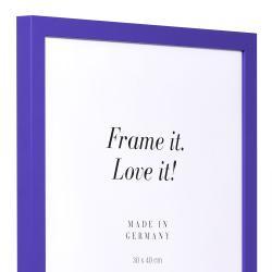 Bilderrahmen Holzrahmen Top Cube lila