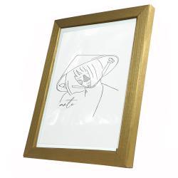 Bilderrahmen Holz-Bilderrahmen Max Gold