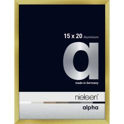 Bilderrahmen Alurahmen Alpha Brushed Gold 15x20 cm