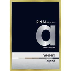 Bilderrahmen Alurahmen Alpha Brushed Gold 21x29,7 cm (A4)