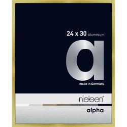 Bilderrahmen Alurahmen Alpha Brushed Gold 24x30 cm