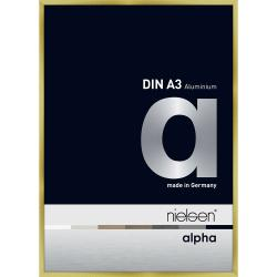 Bilderrahmen Alurahmen Alpha Brushed Gold 29,7x42 cm (A3)