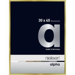 Bilderrahmen Alurahmen Alpha Brushed Gold 30x40 cm