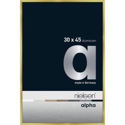 Bilderrahmen Alurahmen Alpha Brushed Gold 30x45 cm