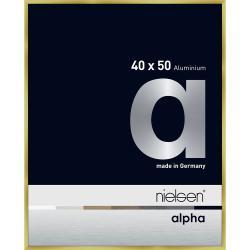 Bilderrahmen Alurahmen Alpha Brushed Gold 40x50 cm