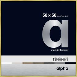 Bilderrahmen Alurahmen Alpha Brushed Gold 50x50 cm