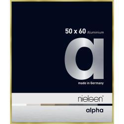 Alurahmen Alpha Brushed Gold 50x60 cm