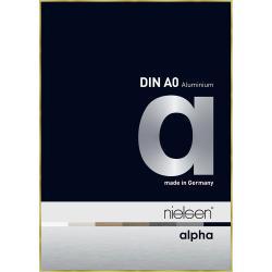 Bilderrahmen Alurahmen Alpha Brushed Gold 84,1x118,9 cm (A0)
