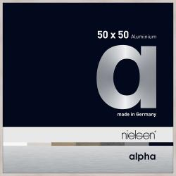 Bilderrahmen Alurahmen Alpha Eiche weiß (furnierte Oberfläche) 50x50 cm
