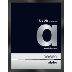 Bilderrahmen Alurahmen Alpha Schwarz glanz eloxiert 15x20 cm