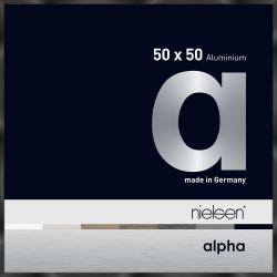 Bilderrahmen Alurahmen Alpha Schwarz glanz eloxiert 50x50 cm