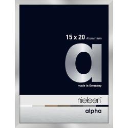 Bilderrahmen Alurahmen Alpha Silber 15x20 cm