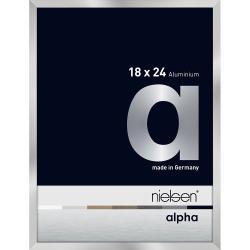 Bilderrahmen Alurahmen Alpha Silber 18x24 cm