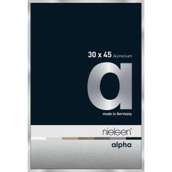 Bilderrahmen Alurahmen Alpha Silber 30x45 cm