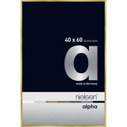 Alurahmen Profil alpha Brushed Gold 40x60 cm