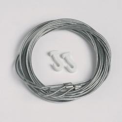 2 Stück Stahlseile 1,3mm/200cm mit Schlaufe und Gleithaken