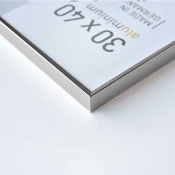 Bilderrahmen Alurahmen Pixel Silber glanz