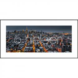 "Bilderrahmen Gerahmte Kunst ""New York Skyline"" mit Alurahmen C2"