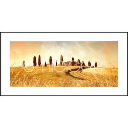 "Bilderrahmen Gerahmte Kunst ""Landscape Italy"" mit Alurahmen C2"